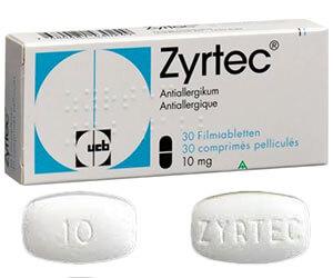 Zyrtec – cetirizine posologie, effets secondaires achat en